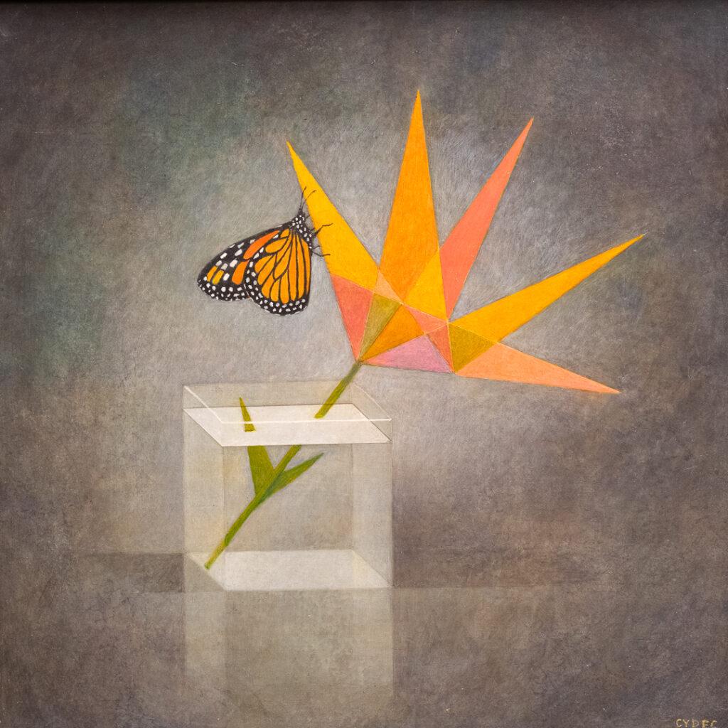 "<em>Geo Flower & Butterfly</em>, 12x12"""