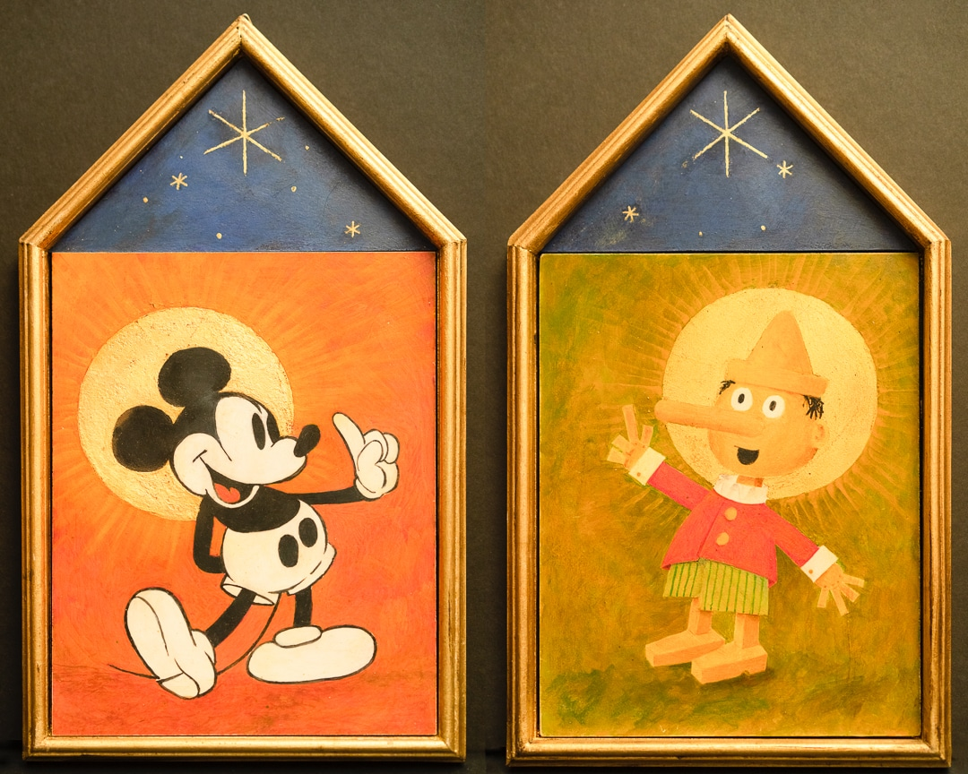 "<em>Two Icons Meet</em>, 8x12"" (two 7x9"" panels framed)"